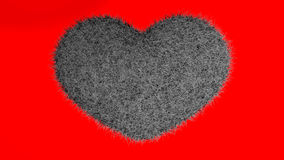 爱,软的黑心脏 图库摄影
