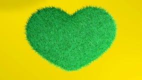 爱,软的绿色心脏 免版税库存照片