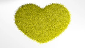 爱,软的黄色心脏 库存图片