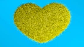 爱,软的黄色心脏 免版税库存图片