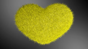 爱,软的黄色心脏 免版税库存照片