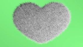 爱,软的whait心脏 向量例证