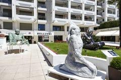 爱,雕塑,博览会在戛纳 免版税库存照片