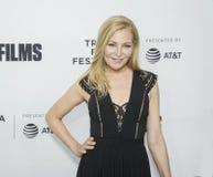 `爱, Gilda,在Tribeca电影节的`首放的詹尼弗Westfeldt  图库摄影