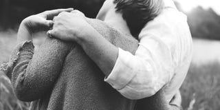 爱统一性夫妇激情关系概念 免版税库存图片