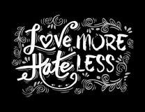 爱更多怨恨 库存例证