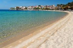 爱琴海海滩 库存照片
