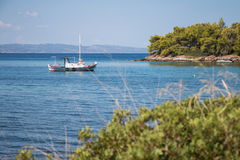 爱琴海 小船 免版税图库摄影