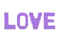 爱 颜色紫色 免版税库存照片