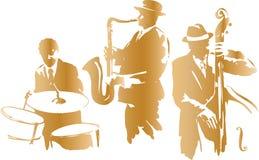 爵士乐三重奏 库存图片