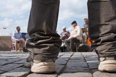 爵士乐性能街道 图库摄影