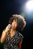 爵士乐歌唱家阶段 图库摄影