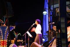 爵士乐歌唱家 免版税库存图片