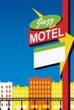 爵士乐汽车旅馆霓虹灯广告 免版税库存照片