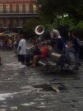 爵士乐球员在新奥尔良 库存照片