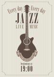 爵士乐的海报 免版税库存照片