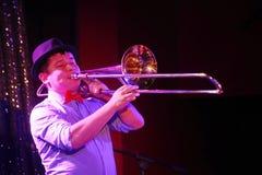爵士乐的年轻天才在俱乐部奥林匹亚的 库存图片