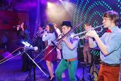 爵士乐的年轻天才在俱乐部奥林匹亚的 库存照片