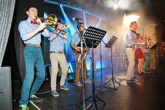 爵士乐的年轻天才在俱乐部奥林匹亚的 免版税图库摄影