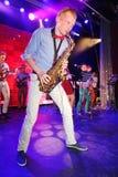 爵士乐的年轻天才在俱乐部奥林匹亚的 图库摄影
