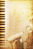 爵士乐老纸张 免版税库存图片