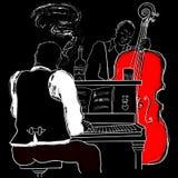爵士乐钢琴和双低音 免版税库存图片