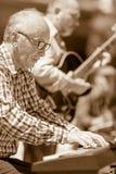 爵士乐钢琴演奏家 免版税库存照片