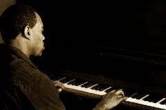 爵士乐钢琴演奏者 库存图片
