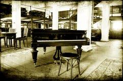爵士乐钢琴酒吧 库存图片
