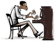 爵士乐钢琴 免版税库存照片