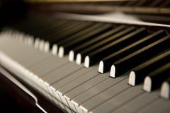 爵士乐锁上钢琴 库存图片