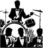 爵士乐队 免版税图库摄影