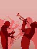 爵士乐黄铜音乐家 库存图片