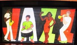 爵士乐绘画 库存照片