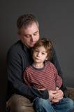 父亲儿子年轻人 免版税图库摄影