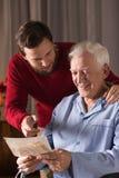 父亲和儿子之间的关系 免版税图库摄影