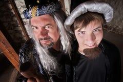 父亲和儿子向导 免版税库存图片