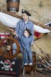 父亲和儿子海盗 库存图片