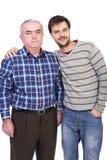 父亲和儿子纵向 库存照片