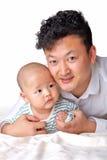 父亲和儿子画象 免版税库存图片