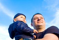 父亲和儿子 图库摄影