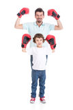父亲和儿子 库存图片