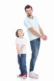 父亲和儿子 免版税图库摄影