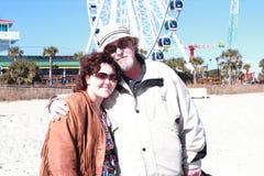 父亲和女儿爱 免版税图库摄影