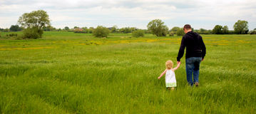 父亲和女儿 库存图片