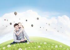 父亲和女儿 免版税库存照片