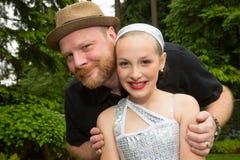 父亲和女儿 免版税库存图片