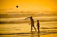 父亲和孩子 免版税图库摄影