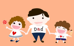 父亲和孩子 图库摄影