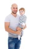 父亲和小婴孩 免版税库存图片